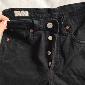 Levis high waisted black jeans